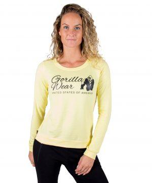 Fitness Trui Dames Riviera Geel - Gorilla Wear-2