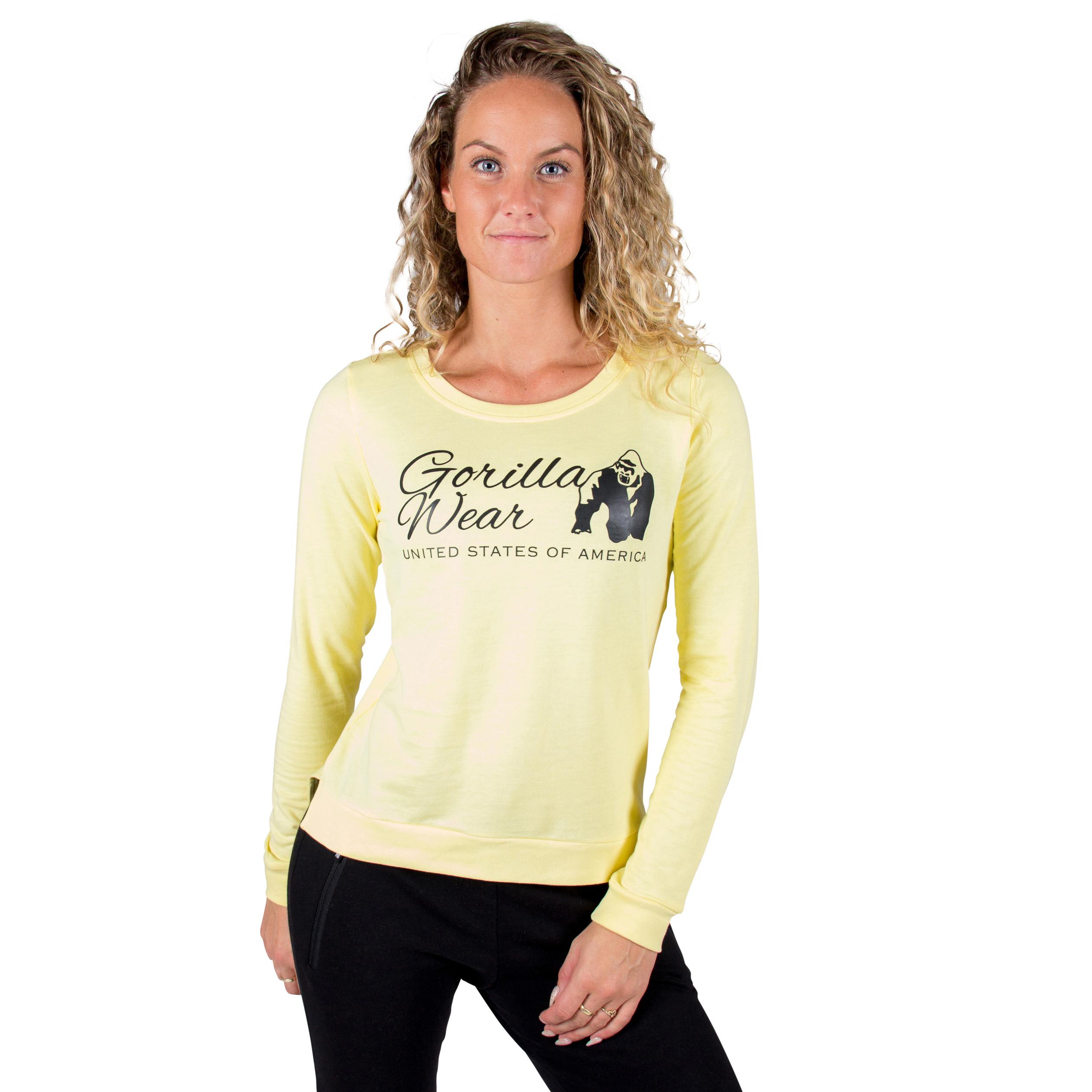Trui Geel Dames.Fitness Trui Dames Riviera Geel Gorilla Wear Fitnesskledingshop Com