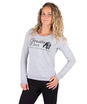 Fitness Trui Dames Riviera Grijs - Gorilla Wear-1