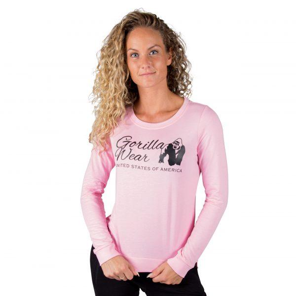 Fitness Trui Dames Riviera Roze - Gorilla Wear-1