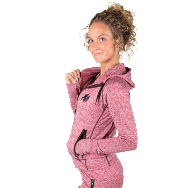 Fitness Trui Dames Rood Shawnee - Gorilla Wear-3