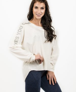 Fitness Trui Dames Wit - Nebbia Oversized Top 290-1