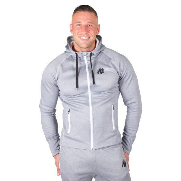 Fitness Trui Heren Blauw Zilver Bridgeport - Gorilla Wear-1