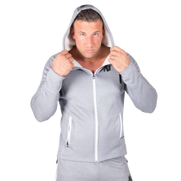 Fitness Trui Heren Blauw Zilver Bridgeport - Gorilla Wear-3