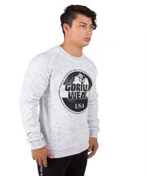 Grijze Trui Heren.Fitness Trui Heren Grijs Bloomington Gorilla Wear
