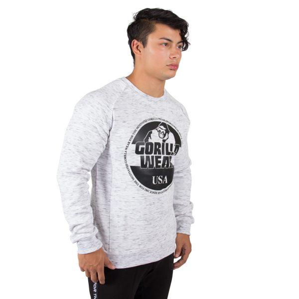 Fitness Trui Heren Grijs Bloomington - Gorilla Wear-3