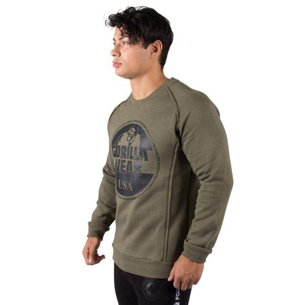 Fitness Trui Heren Groen Bloomington - Gorilla Wear-3