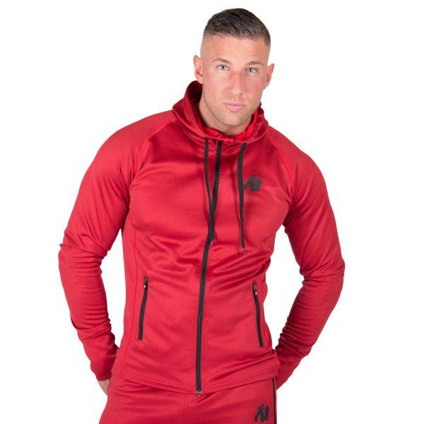 Fitness Trui Heren Rood Bridgeport - Gorilla Wear-1