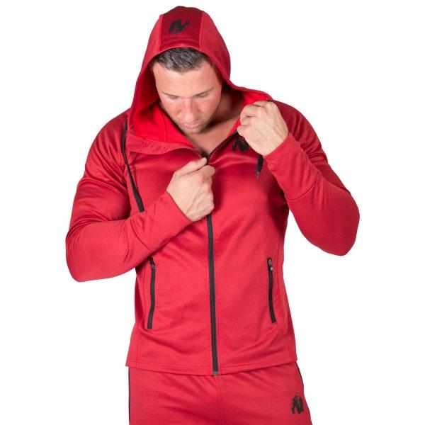 Fitness Trui Heren Rood Bridgeport - Gorilla Wear-3