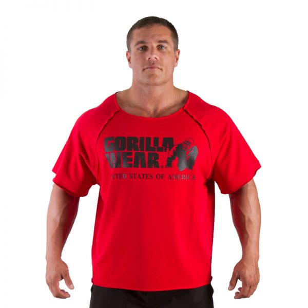 Fitness Trui Heren Rood - Gorilla Wear Work Out Top-1