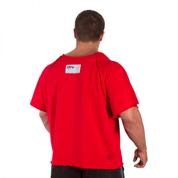 Fitness Trui Heren Rood - Gorilla Wear Work Out Top-2