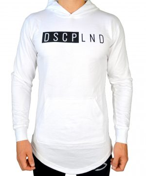 Fitness Trui Heren Wit - Disciplined Apparel-1