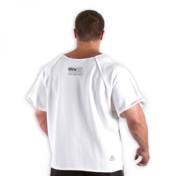 Fitness Trui Heren Wit - Gorilla Wear Work Out Top-2