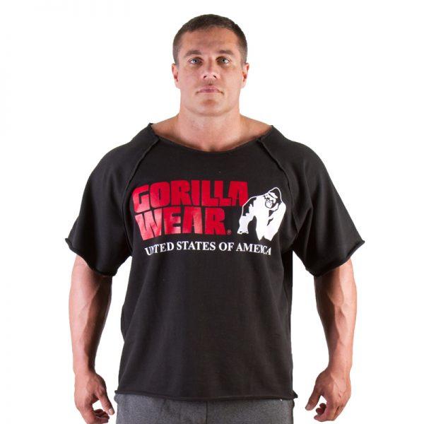 Fitness Trui Heren Zwart - Gorilla Wear Work Out Top-1