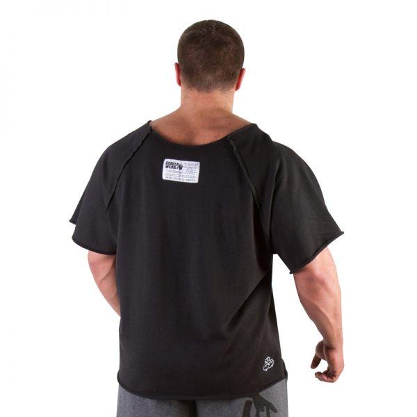 Fitness Trui Heren Zwart - Gorilla Wear Work Out Top-2