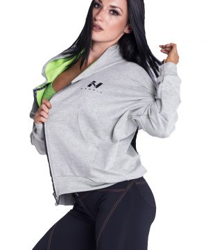 Fitness Vest Dames Grijs - Nebbia Loose Fit Jacket 289-1