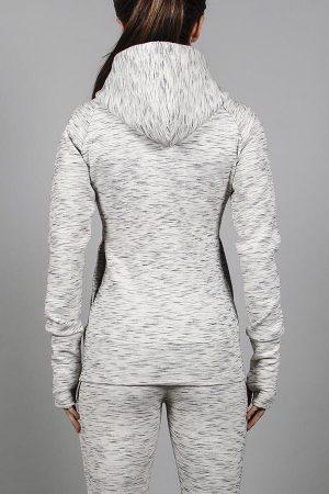 Fitness Vest Dames Grijs met Rits - Pursue Fitness Iconic Full Zip Jacket-2