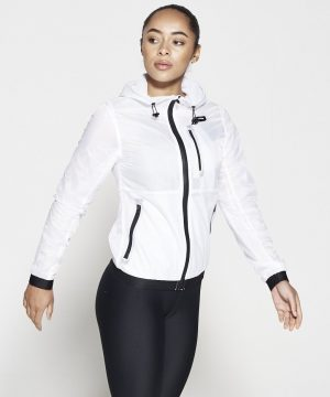 Fitness Vest Dames Wit - Pursue Fitness Running Jacket-2