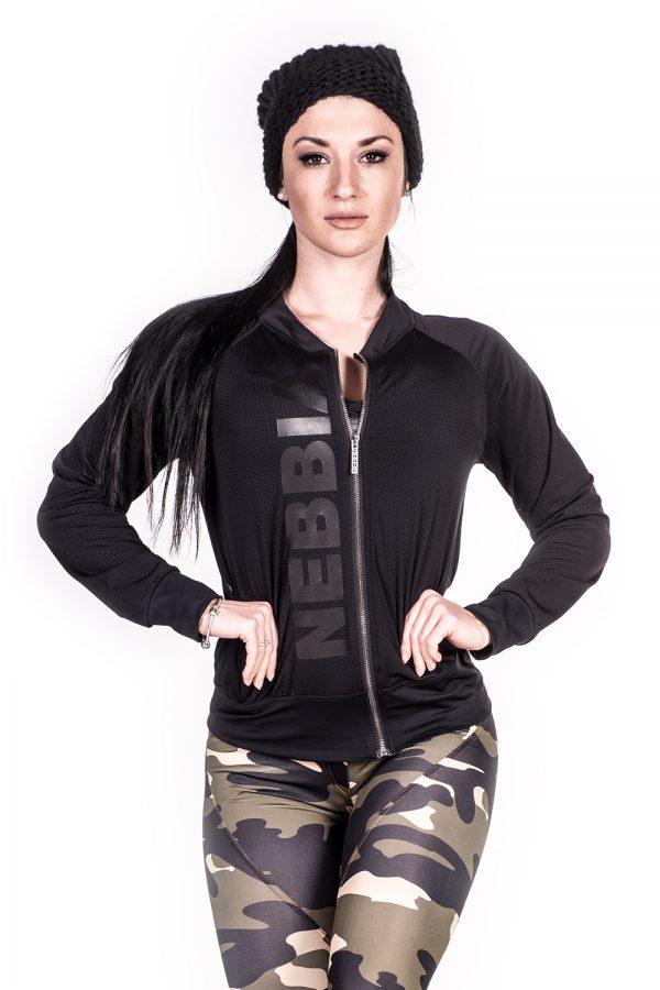 Fitness Vest Dames Zwart Getailleerd - Nebbia 288-1