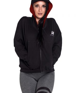 Fitness Vest Dames Zwart - Nebbia Loose Fit Jacket 289-1