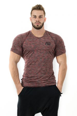 Fitness t-shirt Rood - Nebbia Aesthetic Warrior 126-1