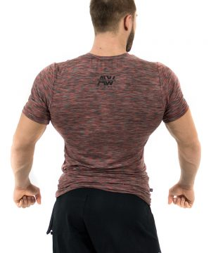 Fitness t-shirt Rood - Nebbia Aesthetic Warrior 126-2