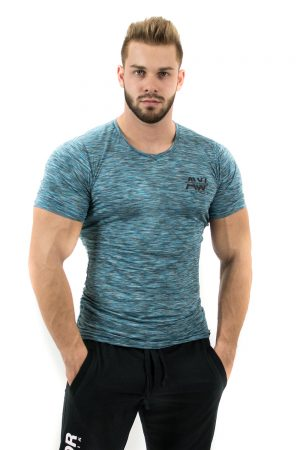 Fitness t-shirt blauw - Nebbia Aesthetic Warrior 126-1