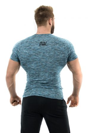 Fitness t-shirt blauw - Nebbia Aesthetic Warrior 126-2