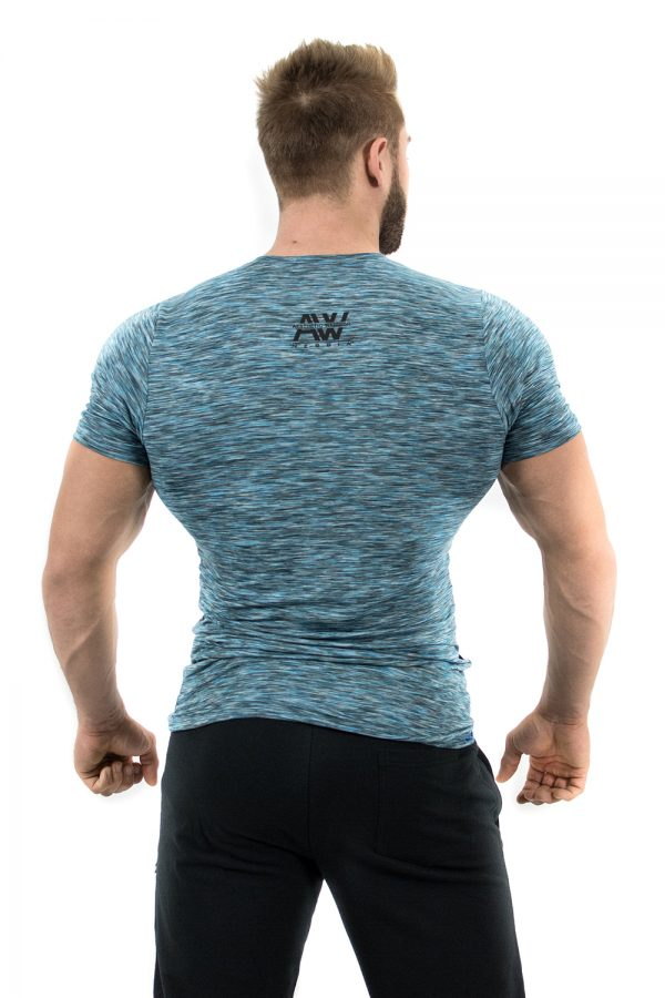 Fitness t-shirt blauw - Nebbia Aesthetic Warrior 126-2