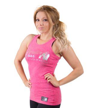 Fitness tanktop roze - Gorilla Wear Leakey-1