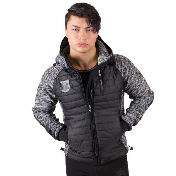 Paxville Jacket Zwart Grijs - Gorilla Wear-1