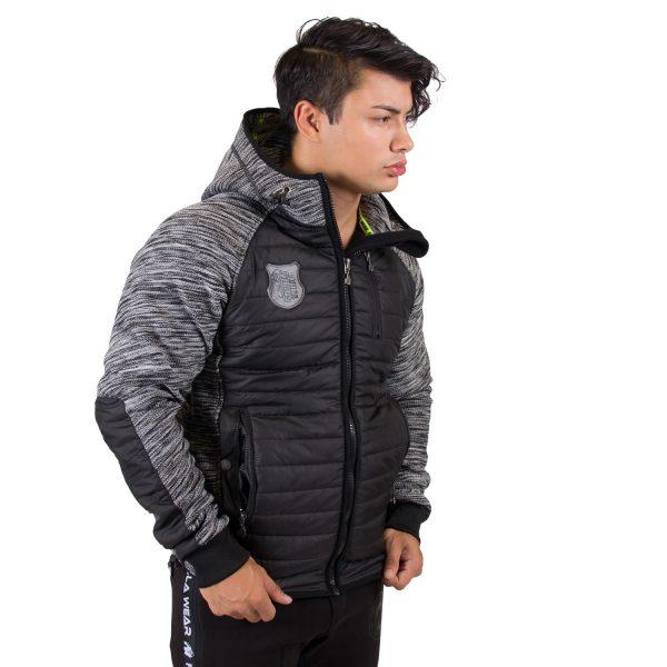 Paxville Jacket Zwart Grijs - Gorilla Wear-4
