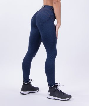 Push-up broek Dames Blauw - Nebbia 251 Bubble Butt Pants Blauw-1