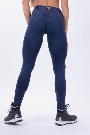 Push-up broek Dames Blauw - Nebbia 251 Bubble Butt Pants Blauw-2