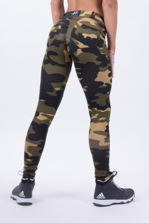 Push-up broek Dames Camo - Nebbia 252 Bubble Butt Pants Camo-1