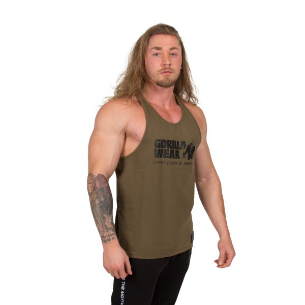 Bodybuilding-Tanktop-Classic-Groen---Gorilla-Wear-2