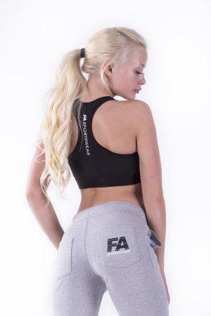 Fitness Broek Dames Grijs - Fitness Authority-2