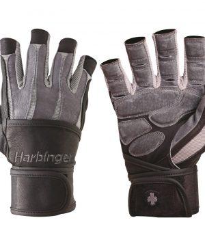 Fitness-Handschoenen-Bioform-Wristwrap-Grijs-Zwart---Harbinger