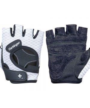Fitness-Handschoenen-Vrouwen-Open-Finger-Flexfit-Wit---Harbinger