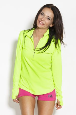 Fitness Longsleeve Dames Geel Groen - Fitness Authority-1