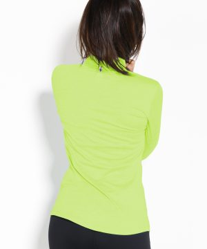 Fitness Longsleeve Dames Geel Groen - Fitness Authority-2