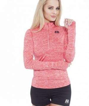 Fitness Longsleeve Dames Rood - Fitness Authority-1