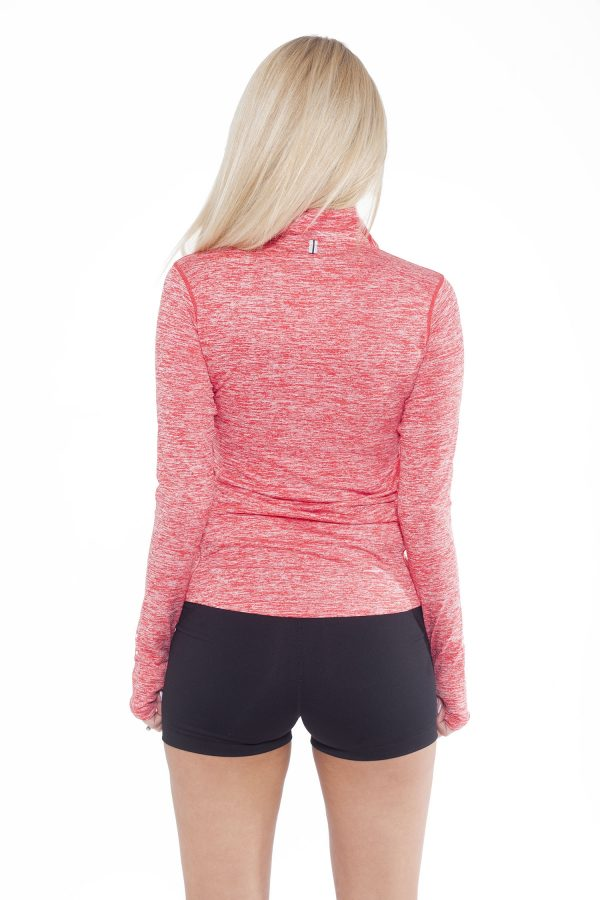 Fitness Longsleeve Dames Rood - Fitness Authority-2