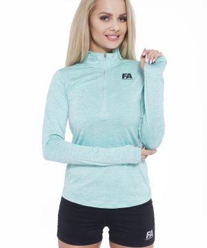 Fitness Longsleeve Dames Turquoise - Fitness Authority-1