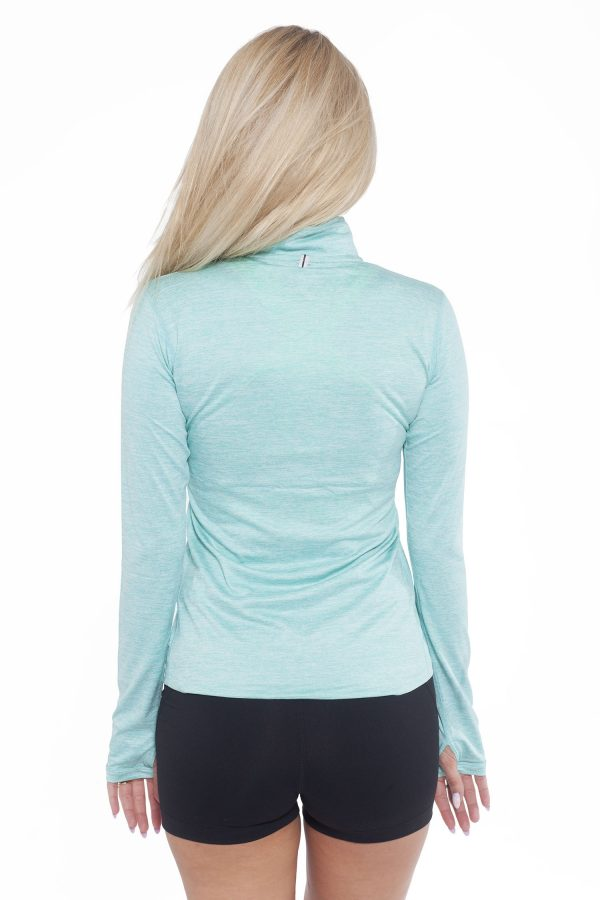 Fitness Longsleeve Dames Turquoise - Fitness Authority-2