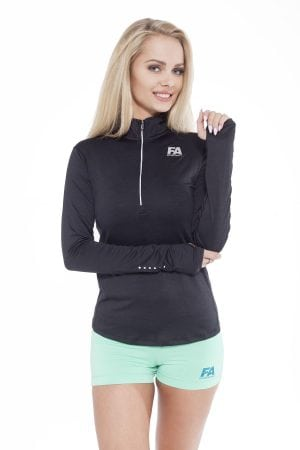 Fitness Longsleeve Dames Zwart - Fitness Authority-1