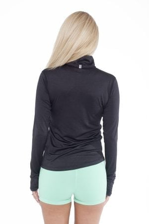 Fitness Longsleeve Dames Zwart - Fitness Authority-2