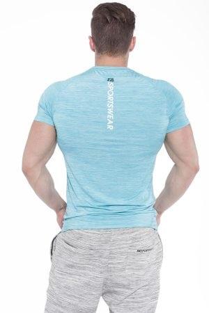 Fitness Shirt Heren Compressie Lichtblauw - Fitness Authority-2