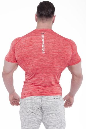Fitness Shirt Heren Compressie Rood - Fitness Authority-2