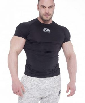 Fitness Shirt Heren Compressie Zwart - Fitness Authority-1